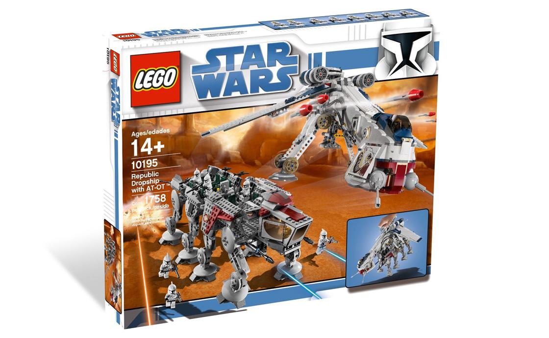 LEGO Exclusive Республиканский корабль с AT-OT шагоходом (10195)