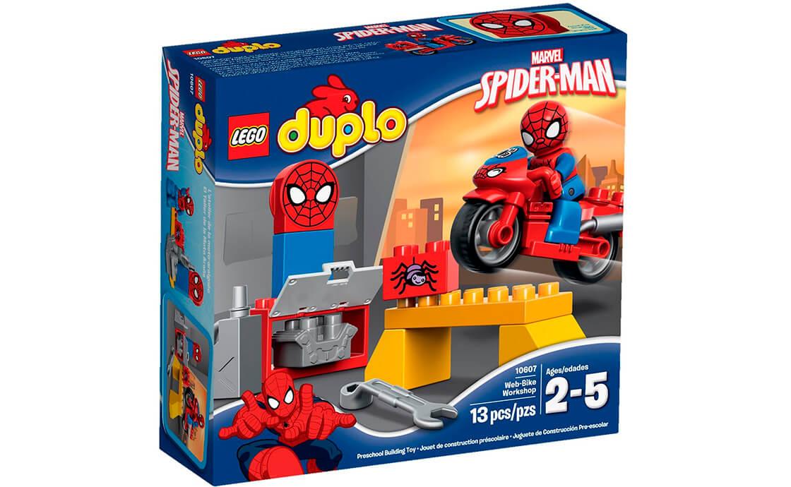 LEGO DUPLO Людина-Павук: мотоцикл та майстерня (10607)