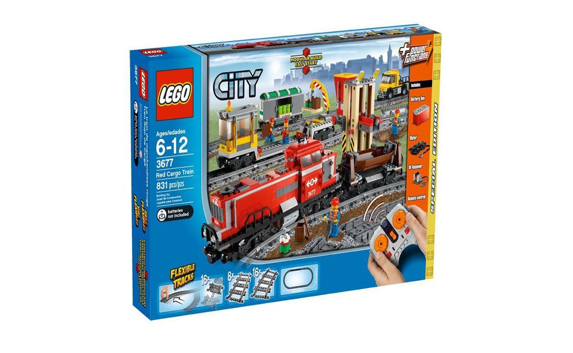 LEGO City Красный грузовой поезд (3677)