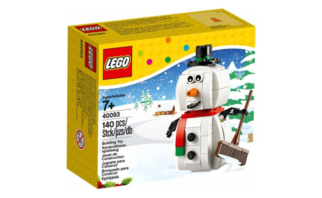 LEGO Accessories Новогодний снеговик (40093)