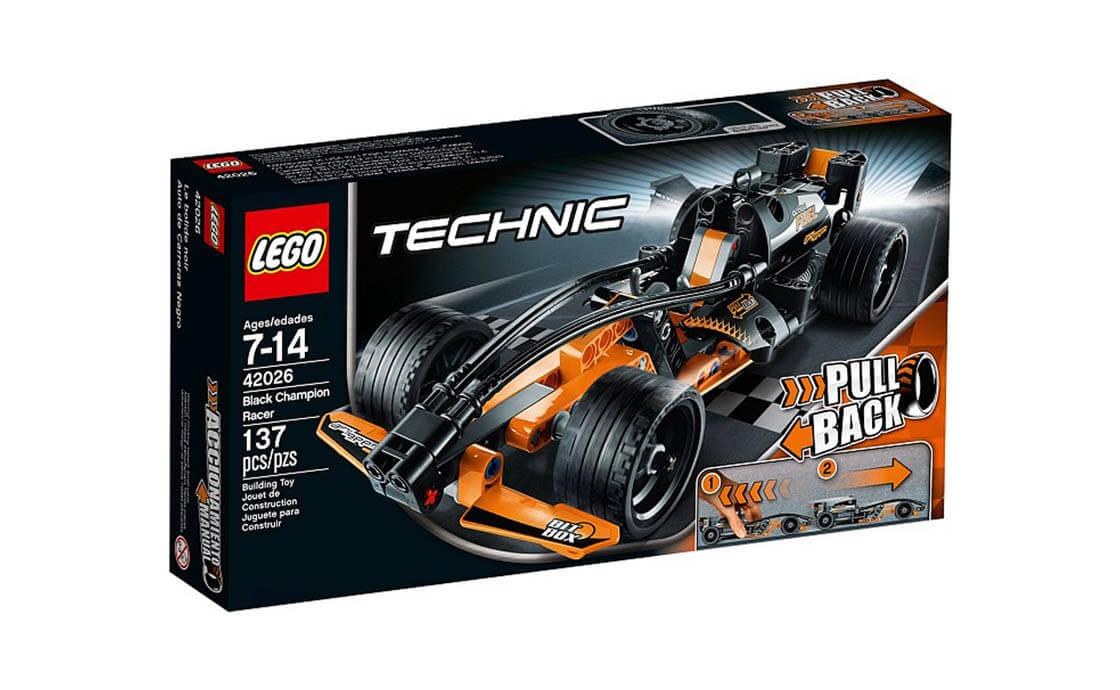 LEGO Technic Черный гоночный болид Pull-Back (42026)