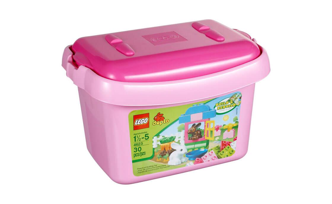 LEGO DUPLO Ведерко с розовыми кубиками (4623)