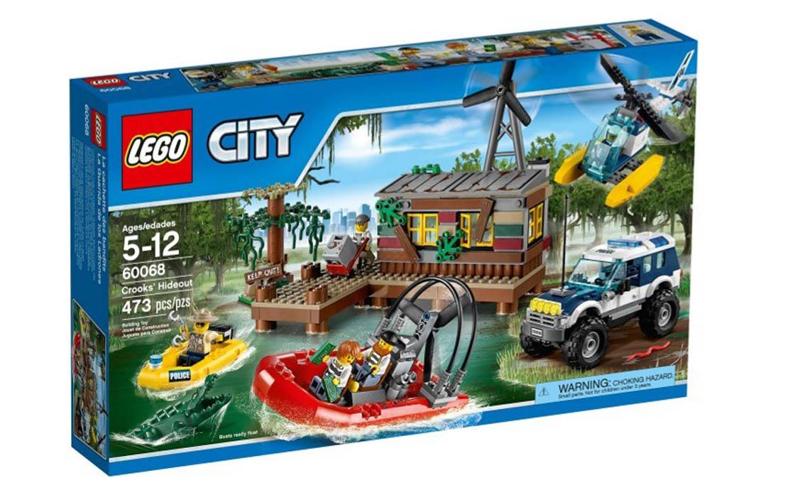 LEGO City Болотное укрытие преступников (60068)