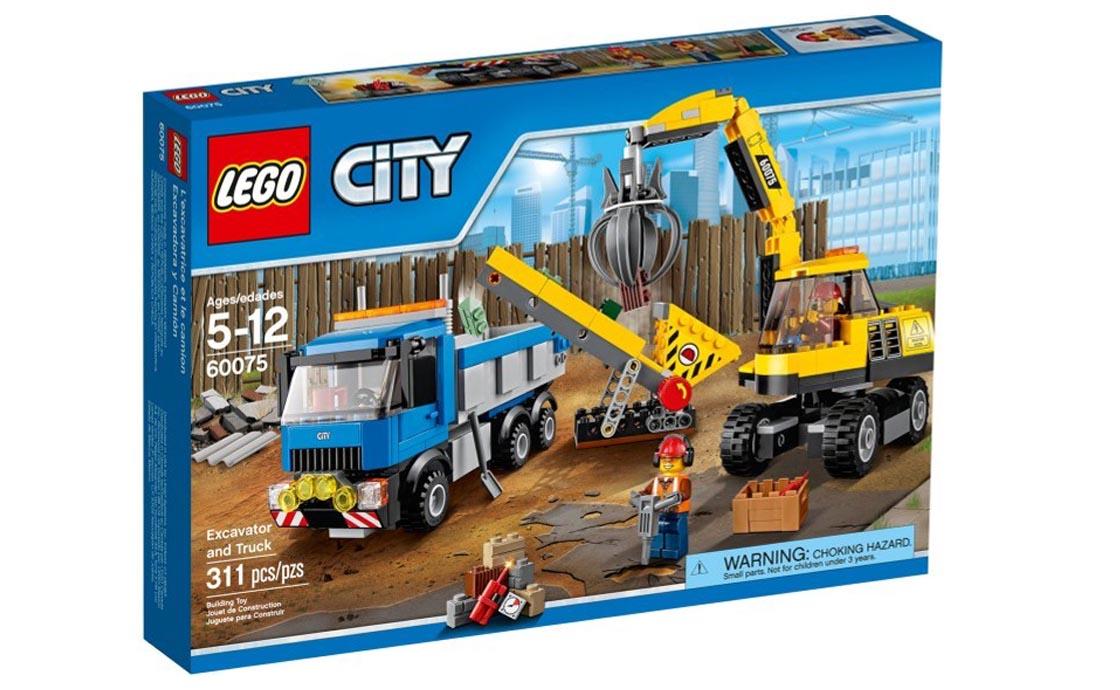 LEGO City Экскаватор и грузовик (60075)