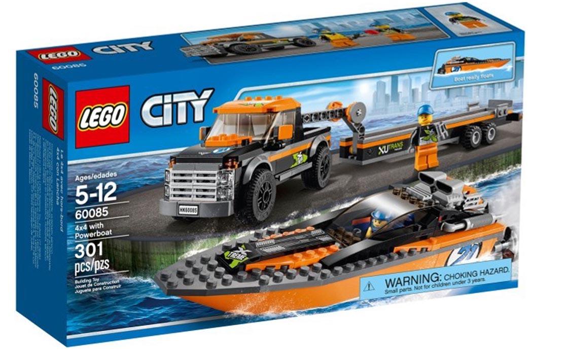LEGO City Джип 4х4 и мощный катер (60085)