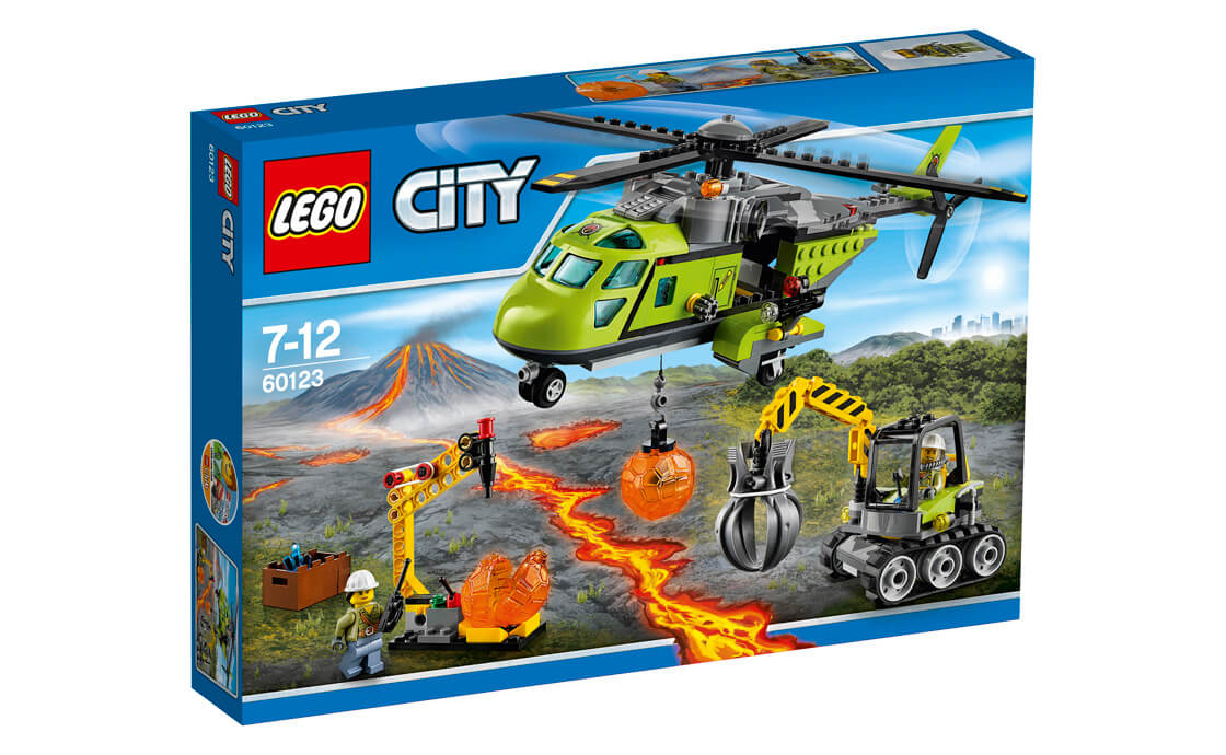 LEGO City Вулкан: вертоліт для доставки (60123)