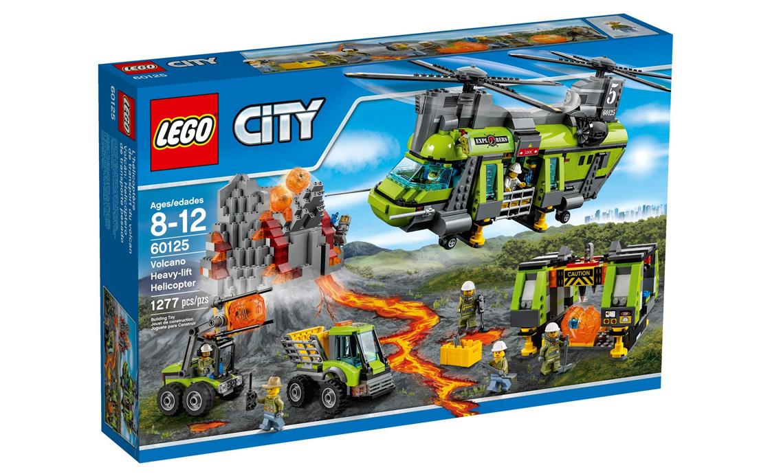 LEGO City Вантажний вертоліт дослідників вулканів (60125)