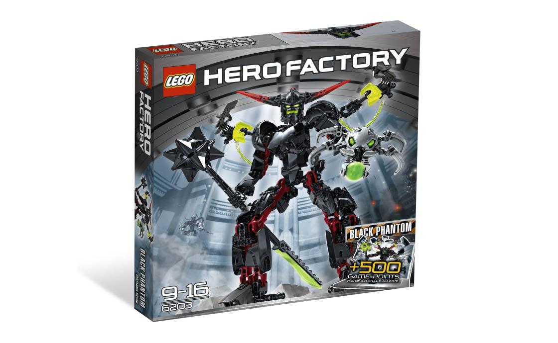 LEGO Hero Factory Чёрный Фантом (6203)