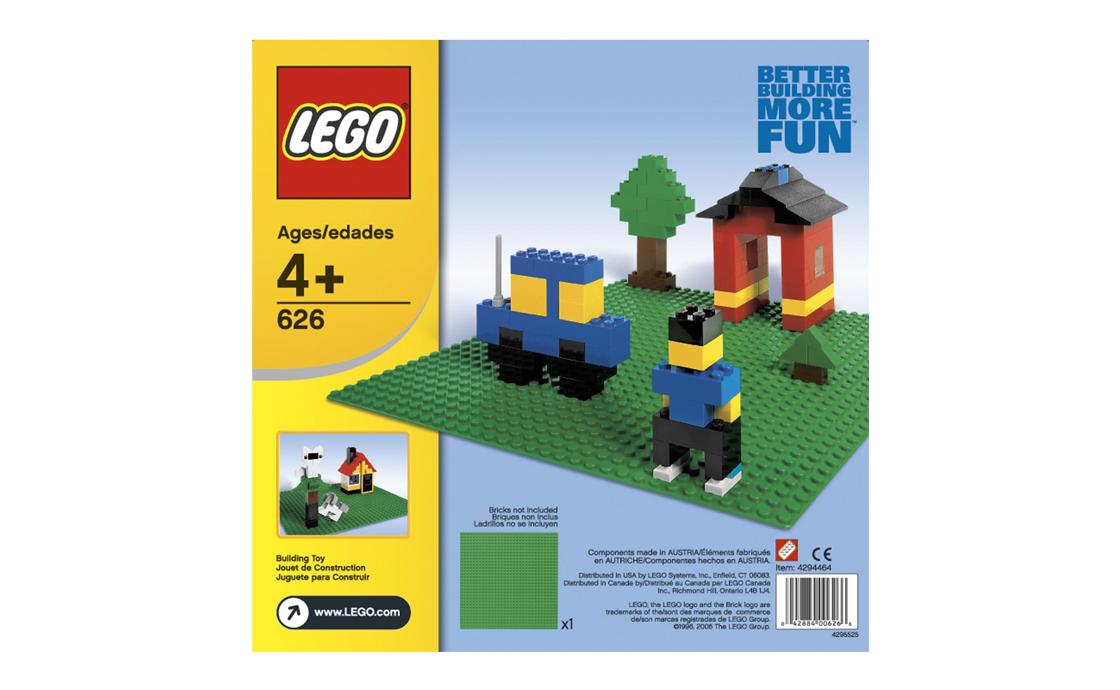 LEGO Creator Средняя зеленая пластина (626)