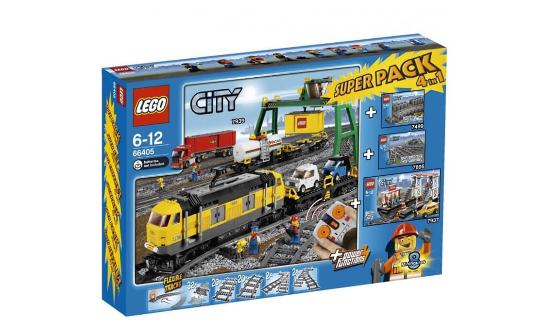 """LEGO City Железная дорога """"4 в 1"""" (66405)"""