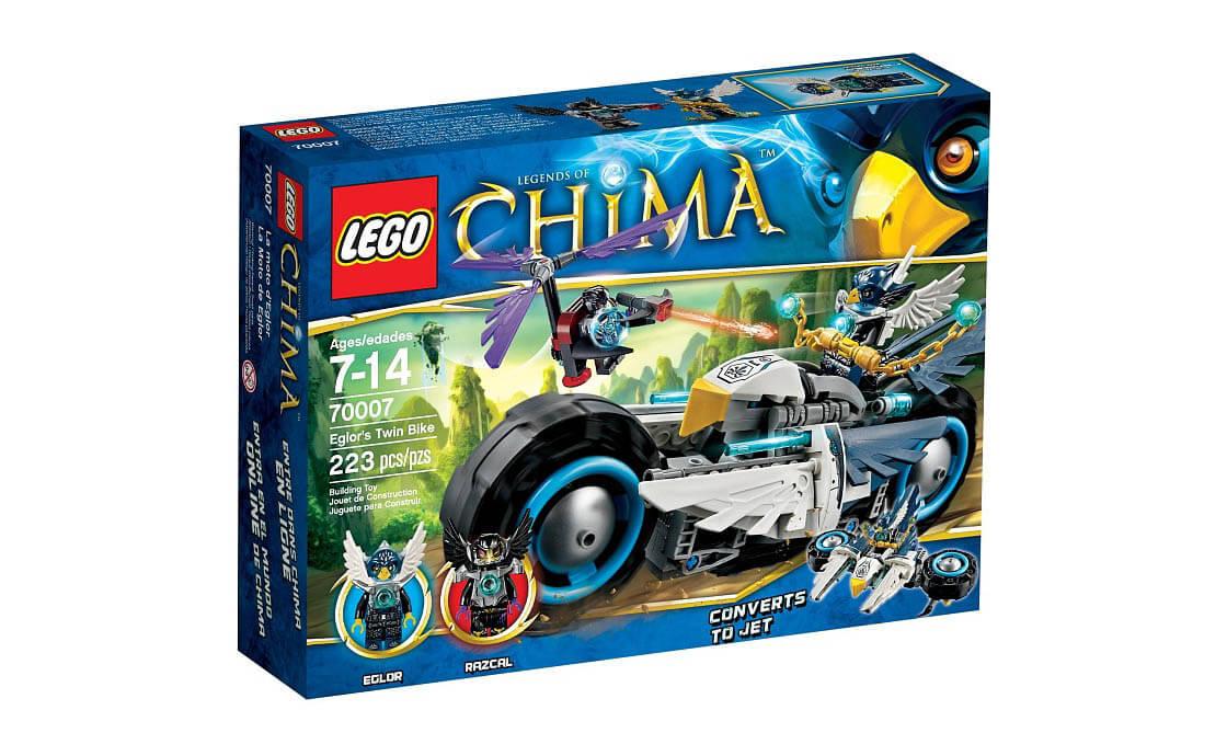 LEGO Legends Of Chima Двойной мотоцикл Эглора (70007)
