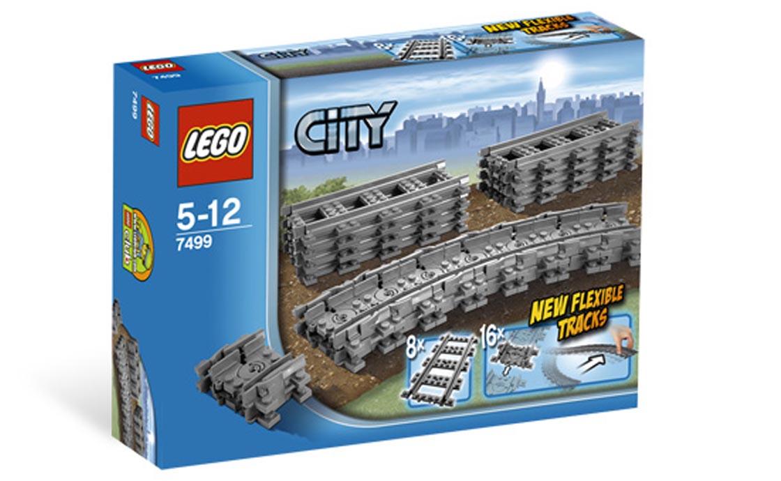 LEGO City Гибкие пути (рельсы для поездов 60051 и 60052) (7499)