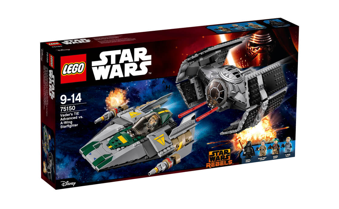 LEGO Star Wars TIE Advanced проти A-wing (75150)
