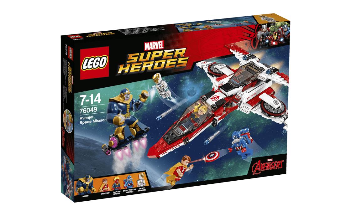LEGO Super Heroes Рятувальна космічна місія на реактивному літаку Месників (76049)