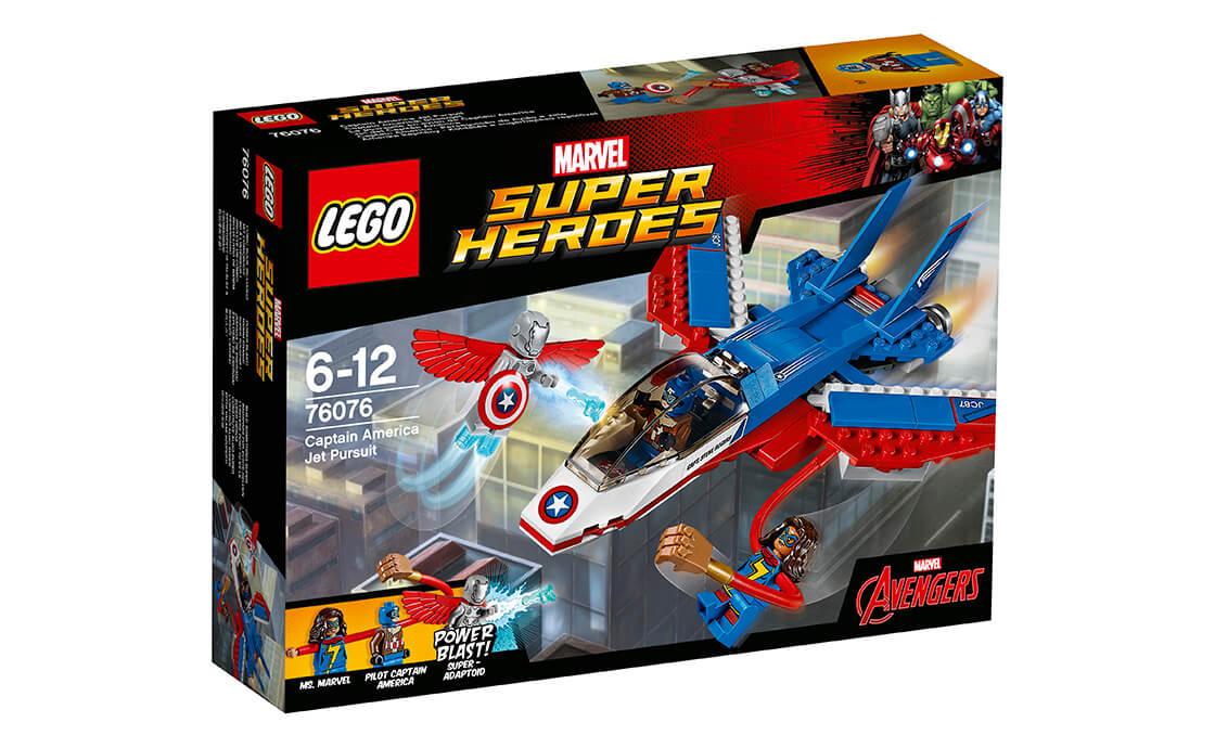 LEGO Super Heroes Повітряна гонитва Капітана Америки (76076)