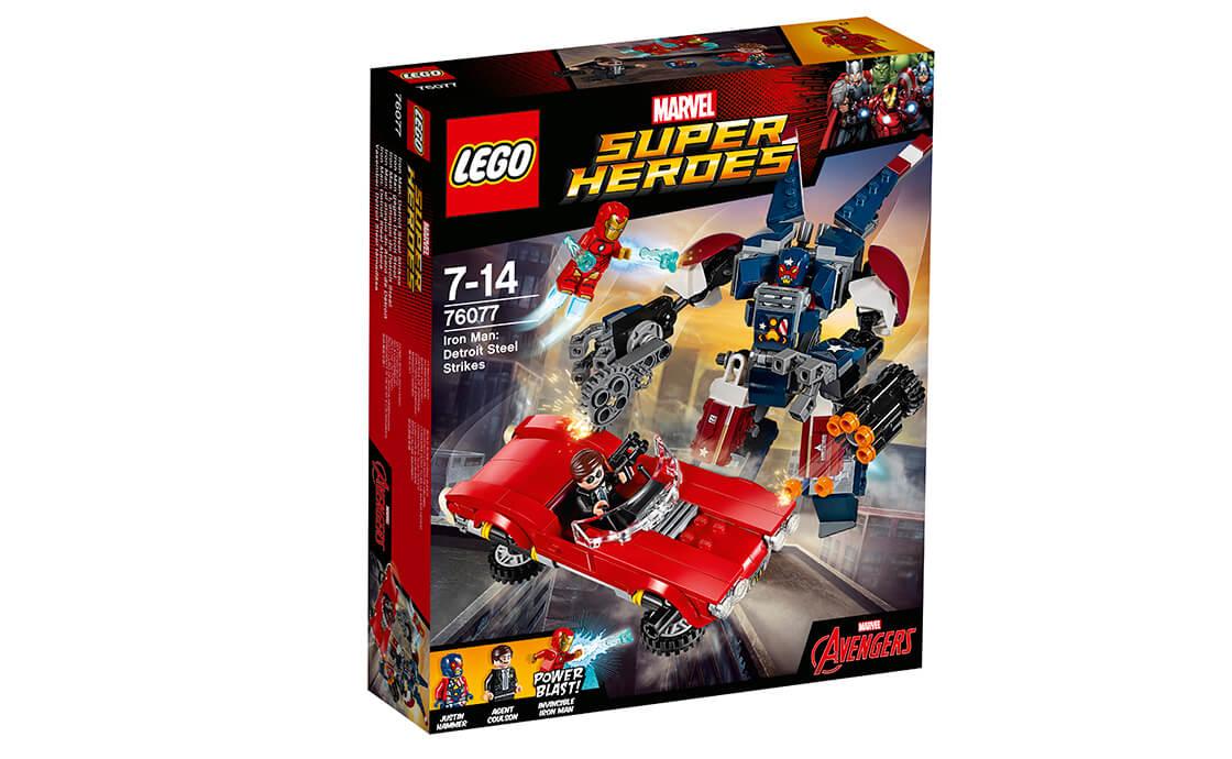 LEGO Super Heroes Залізна людина: Сталевий Детройт завдає удар (76077)