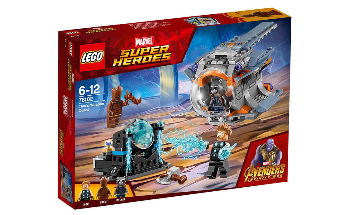 LEGO Super Heroes В поисках оружия Тора (76102)