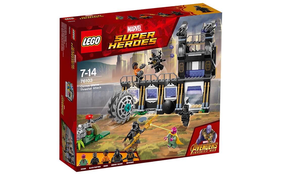 LEGO Super Heroes Атака молотилки Корвуса Глэйва (76103)