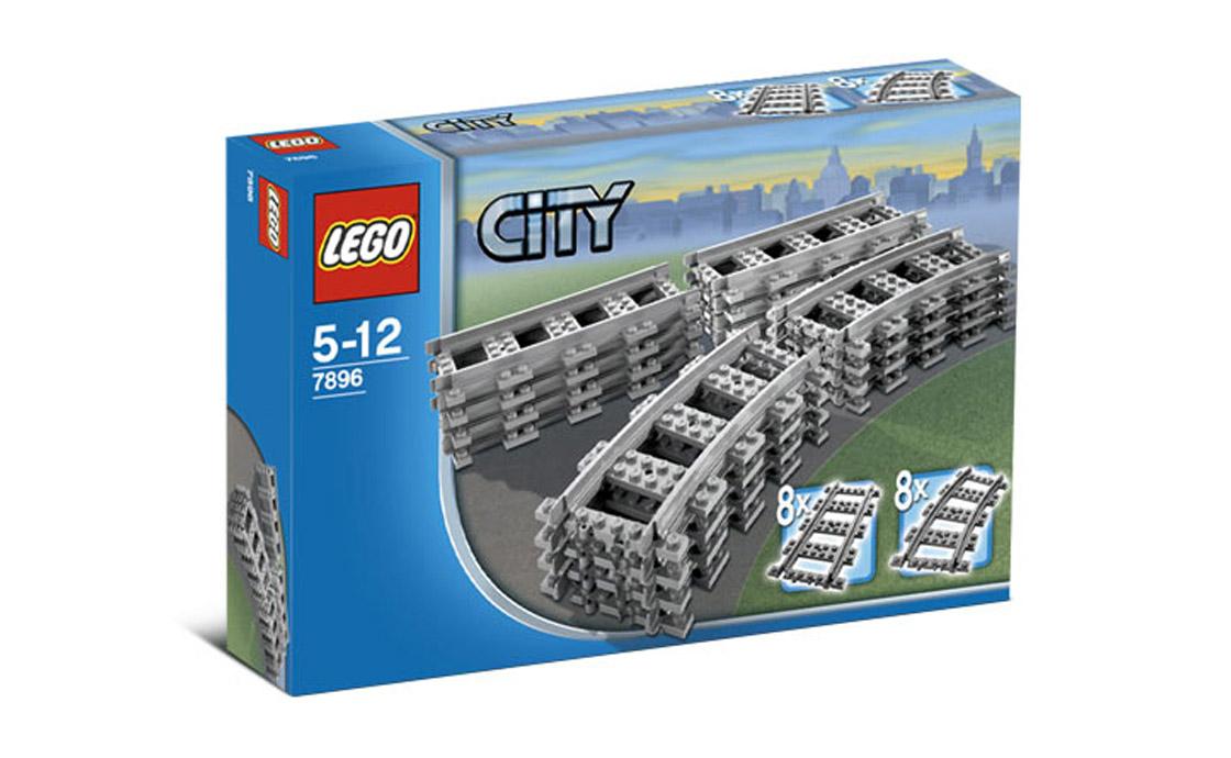 LEGO City Прямые и закругленные рельсы (7896)