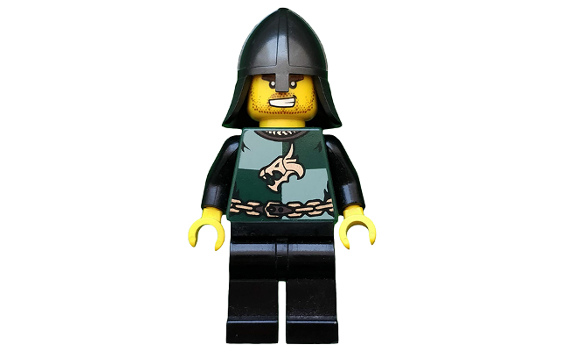 LEGO Castle Kingdoms - Dragon Knight Quarters, Helmet with Neck Protector, Bared Teeth (cas439)