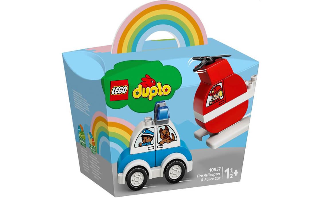 LEGO DUPLO Пожежний вертоліт і поліцейська машина (10957)