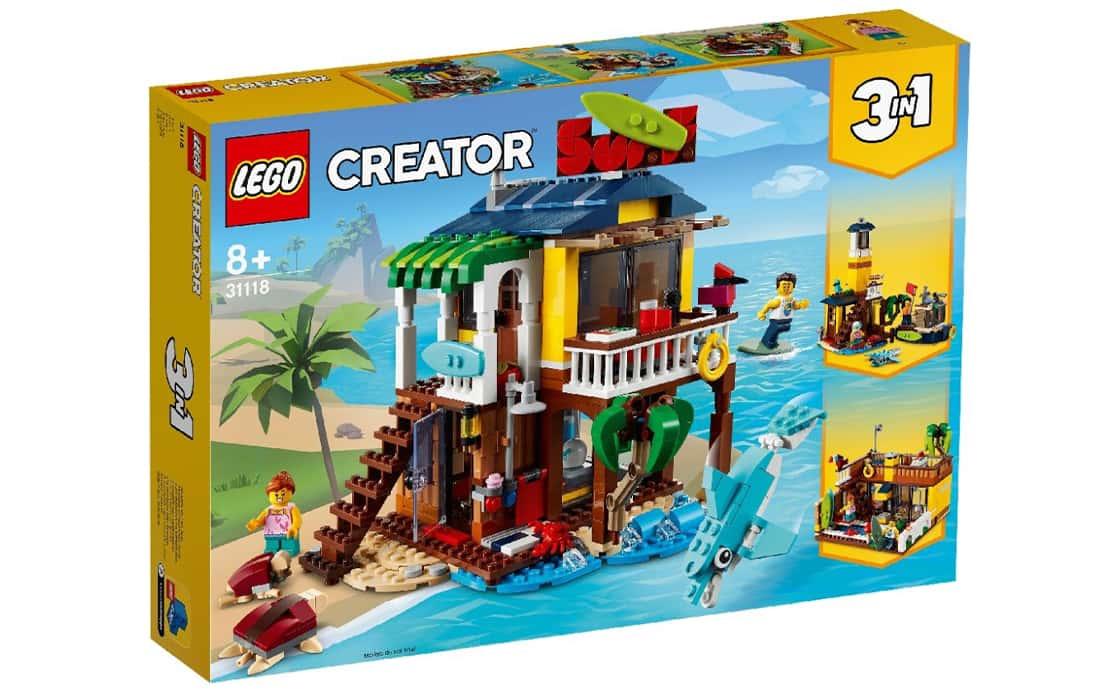 LEGO Creator Пляжний будиночок серферів (31118)