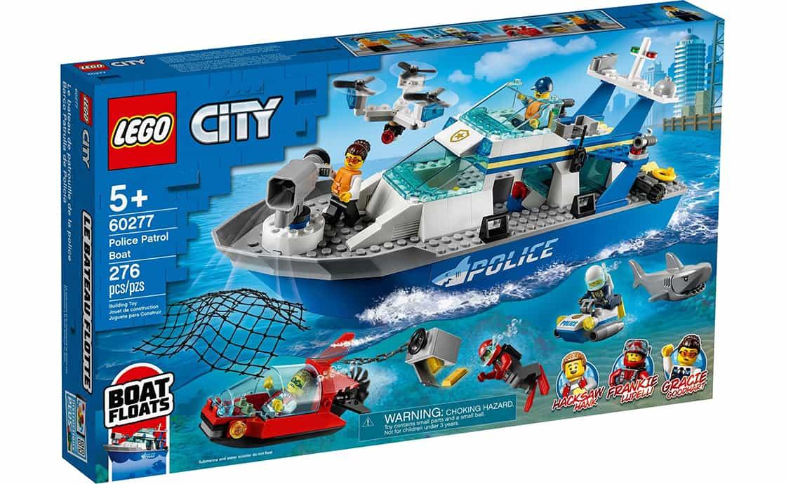 LEGO City Поліцейський патрульний човен (60277)