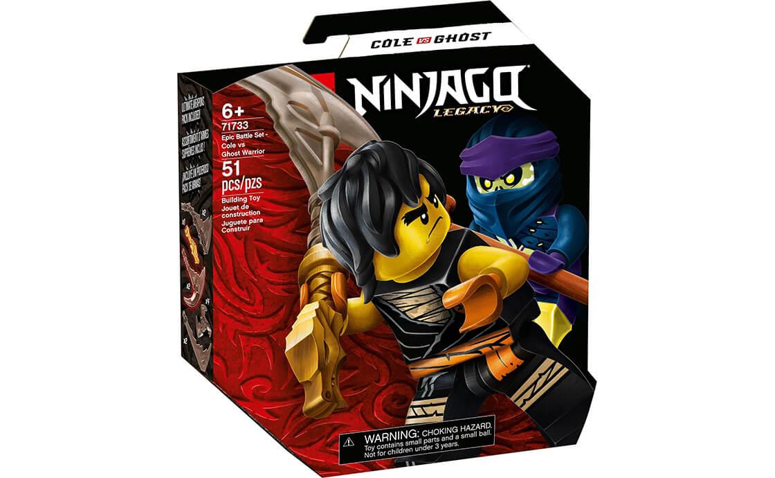 LEGO NINJAGO Грандиозный бой: Коул против воина-призрака (71733)