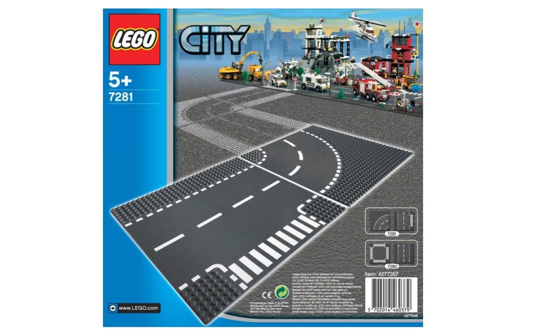 LEGO City Т-образный перекресток и поворот (7281)