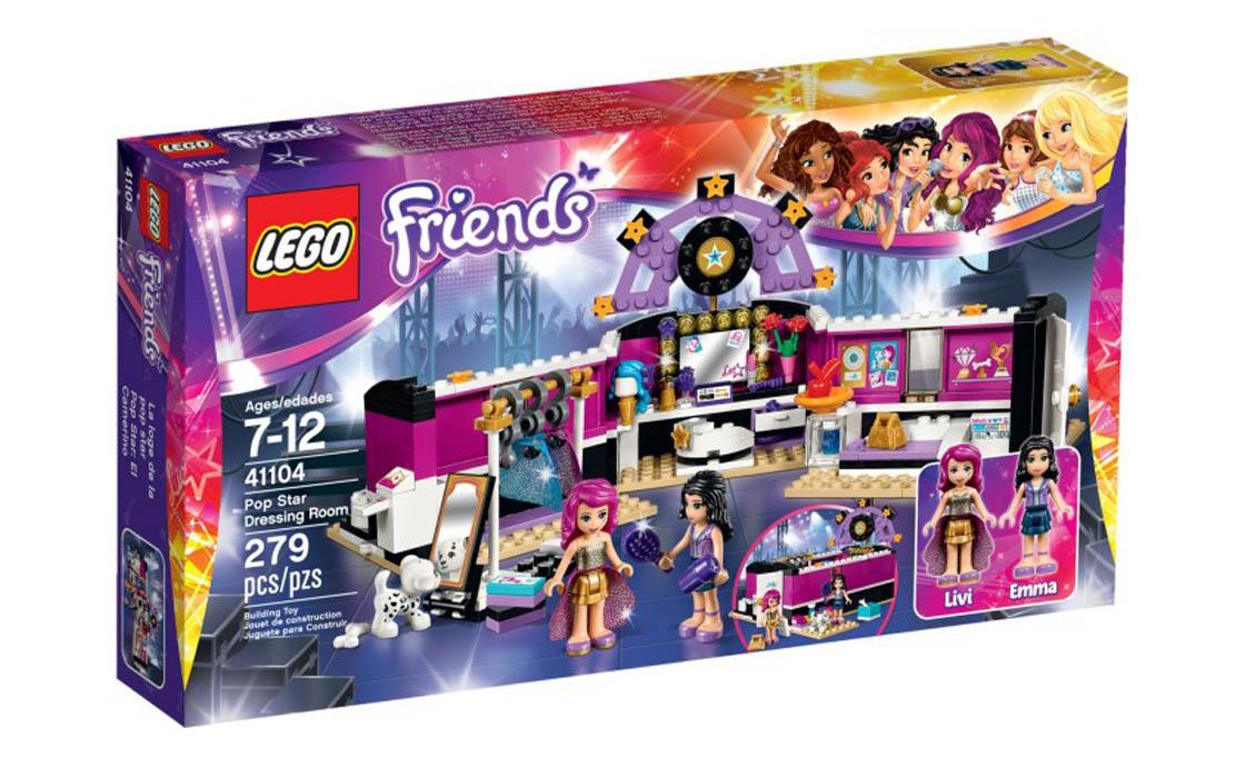 LEGO Friends Поп-звезда в гримерной (41104)