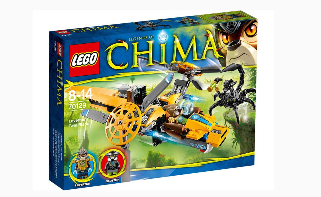 LEGO Legends Of Chima Двухмоторный вертолет Лавертуса (70129)