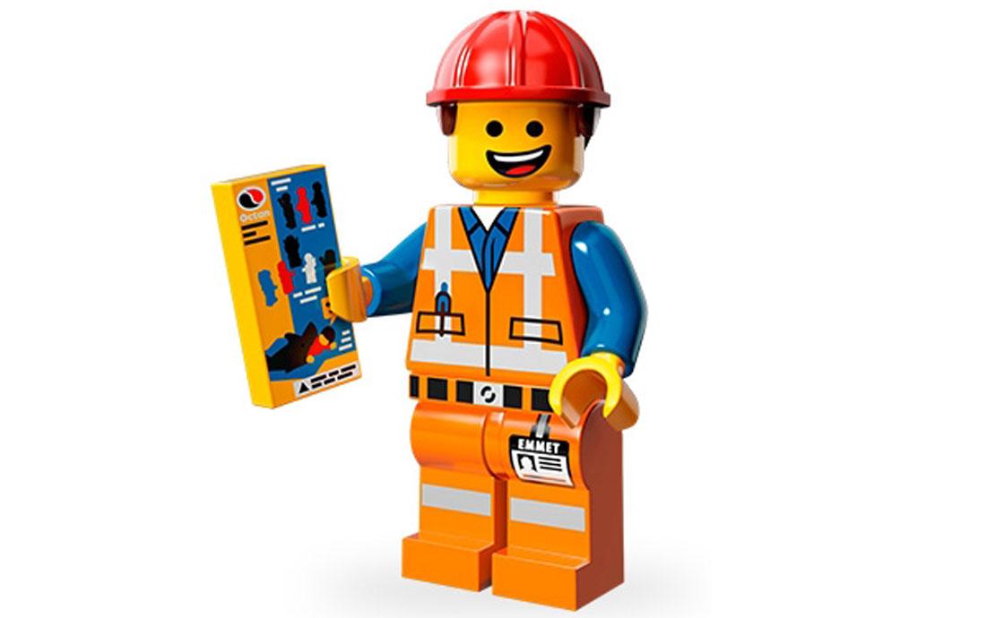 LEGO Minifigures Эммет-строитель (71004-3)