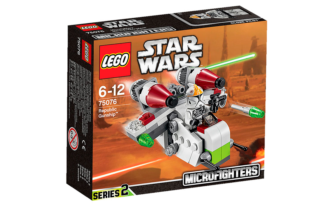 LEGO Star Wars Боевой корабль Республики (75076)