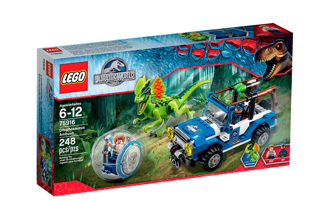 LEGO Jurassic World Засада для Дилофозавр (75916)