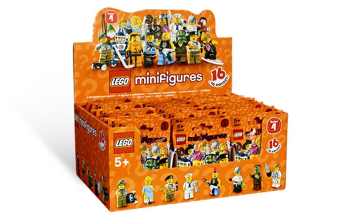 LEGO Minifigures Блок минифигурок Серия 4 (8804_blok)
