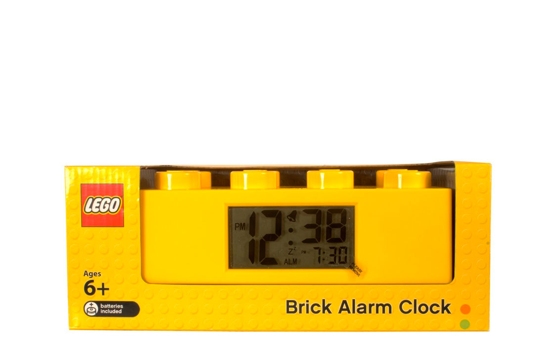 Часы Будильник Кирпичик желтый (9002144)