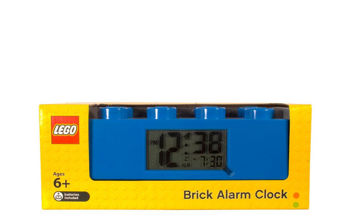 Часы Будильник Кирпичик синий (9002151)