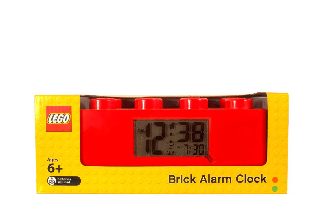 Часы Будильник Кирпичик красный (9002168)