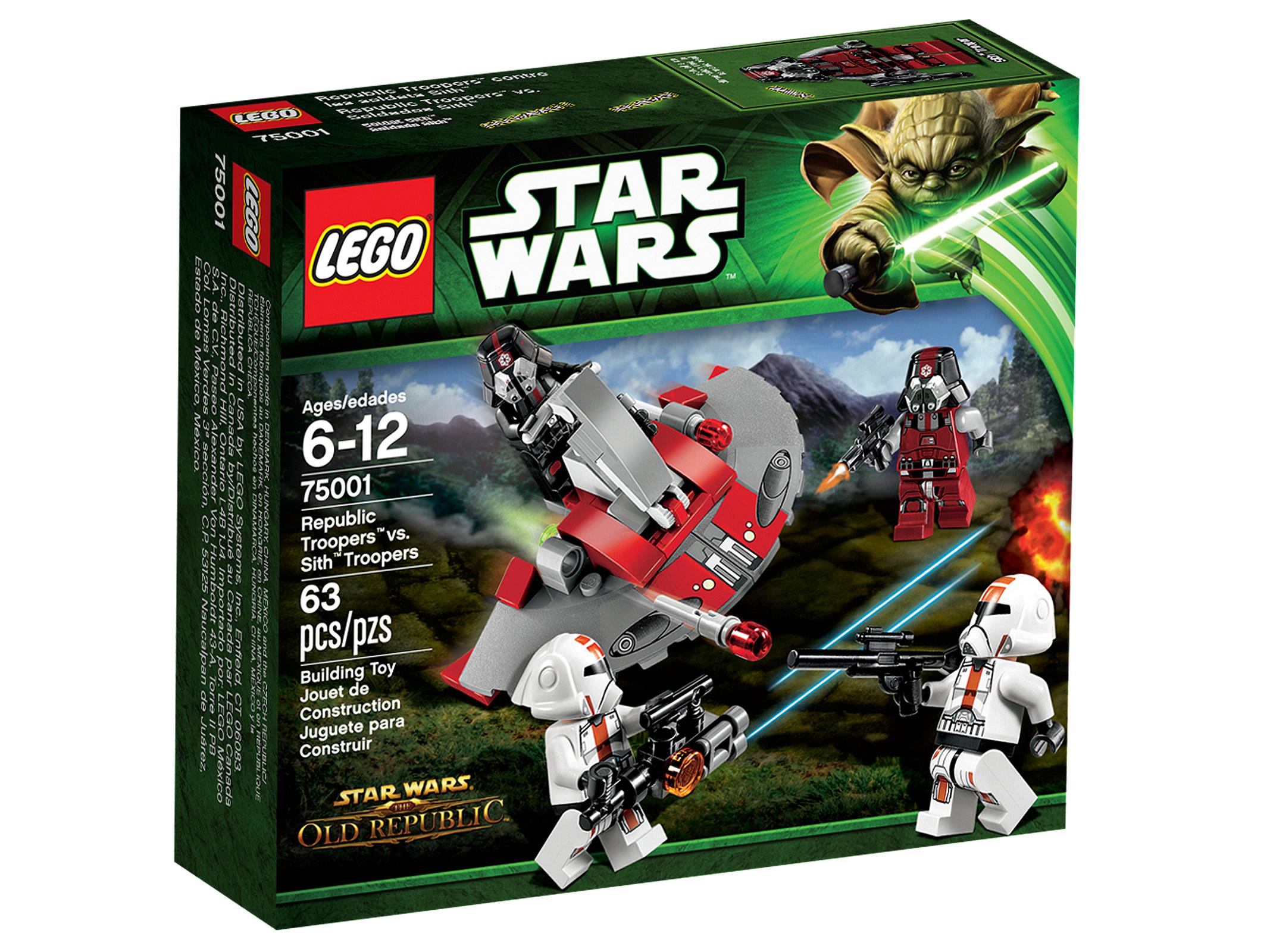 LEGO Star Wars Солдаты Республики против воинов - ситхов (75001)